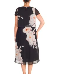 John Lewis - Chesca Floral Print Layered Chiffon Dress - Lyst