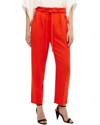 Phase Eight - Orange Pipa Paperbag Waist Soft Trousers - Lyst