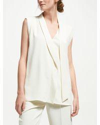 Marella - Bric Sleeveless Tie Top - Lyst