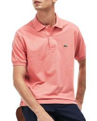 Lacoste - Classic Regular Fit Marl Short Sleeve Polo Shirt - Lyst