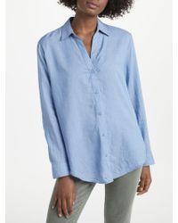 NYDJ - Long Sleeve Lyocell Shirt - Lyst