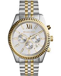 Michael Kors - Men's Lexington Chronograph Date Bracelet Strap Watch - Lyst
