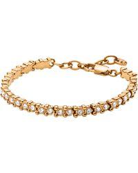 Dyrberg/Kern | Dyrberg/kern Nivalis Swarovski Crystal Tennis Bracelet | Lyst
