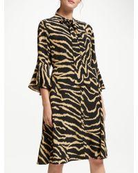 Somerset by Alice Temperley - Zebra Long Sleeve Dress - Lyst
