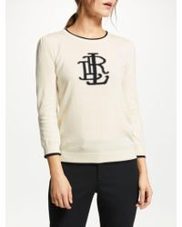 Ralph Lauren - Lauren Alcott 3/4 Sleeve Sweatshirt - Lyst