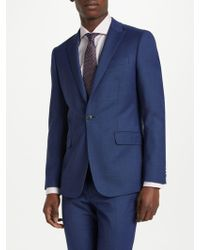 Richard James - Slim Fit Windowpane Check Suit Jacket - Lyst