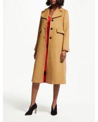 e29b14d3057c Boden Imelda Coat in Natural - Lyst
