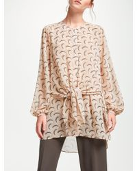 Modern Rarity - Archive Tie Front Tunic Top - Lyst