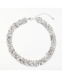 John Lewis - Cupic Zirconia Collar Necklace - Lyst