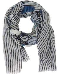 Betty & Co. - Floral Stripe Print Scarf - Lyst