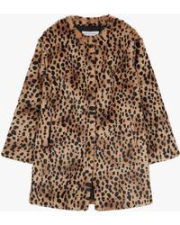 Gerard Darel - Mischa Faux Fur Leopard Print Coat - Lyst