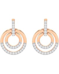 Swarovski - Circle Medium Crystal Drop Earrings - Lyst