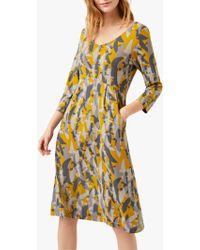 White Stuff - Jana Abstract Print Flared Dress - Lyst