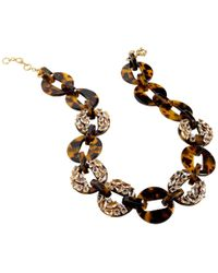 J.Crew - Crystal Link Statement Necklace - Lyst