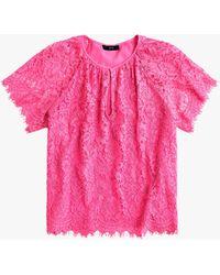 6d432657f390e3 J.Crew Melody Unicorn Lace Top in Black - Lyst