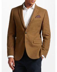 John Lewis - Camel Moleskin Tailored Blazer - Lyst