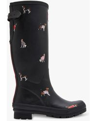 Joules - Dogs Printed Waterproof Rubber Wellington Boots - Lyst