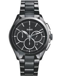 Rado - R32118102 Unisex Hyperchrome Chronograph Date Bi-material Bracelet Strap Watch - Lyst