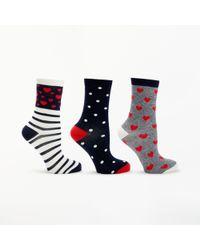 John Lewis - Heart Stripes Ankle Socks - Lyst