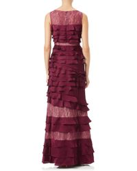 John Lewis - Adrianna Papell Lace Satin Chiffon Gown - Lyst