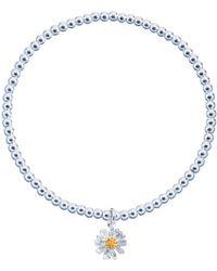 Estella Bartlett | Sienna Flower Charm Stretch Bracelet | Lyst