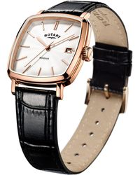 John Lewis - Rotary Gs05309/01 Men's Windsor Leather Strap Watch - Lyst