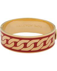 Halcyon Days - Curb Chain Hinge Bangle - Lyst