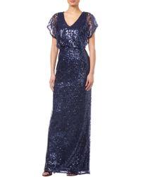 Adrianna Papell - Sequin Blouson Dress - Lyst