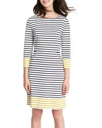 Joules - Yvonne Square Neck Dress - Lyst