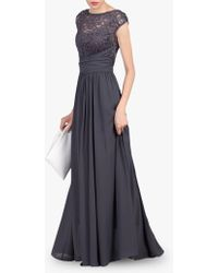 a216844324 Lipsy Navy Lace 'bealey' Full Length Plus Size Evening Dress in Blue - Lyst