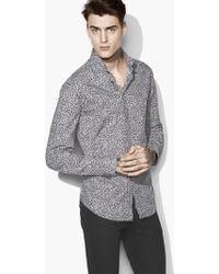 John Varvatos - Wire-collar Printed Shirt - Lyst