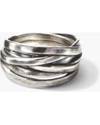 John Varvatos - Artisanal Silver Ring - Lyst