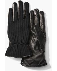 John Varvatos - Wool & Leather Gloves - Lyst