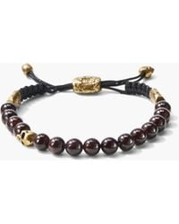 John Varvatos - 8mm Brass Skull With Colour Beads - Lyst