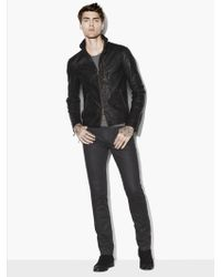 John Varvatos Wire Collar Leather Jacket