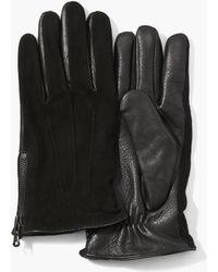 John Varvatos - Classic Leather & Suede Gloves - Lyst