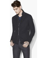 John Varvatos - Stand-collar Knit Jacket - Lyst