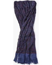 John Varvatos - Woven Paisley Patterned Scarf - Lyst