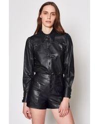 Joie - Telmao Leather Top - Lyst