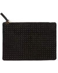 Joie - ♥ Clare V. Studded Suede Flat Clutch - Lyst