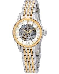 Oris - Skeleton Automatic Silver Dial Ladies Watch 01 560 7687 4351-07 8 14 78 - Lyst