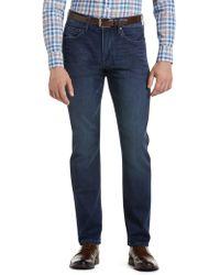 Jos. A. Bank - Joseph Abboud Tailored Fit Denim Knit Jeans - Lyst