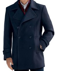 Jos. A. Bank - Classic Collection Traditional Fit Double-breasted Peacoat - Lyst