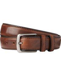Jos. A. Bank - Stitch-edged Leather Belt - Big & Tall - Lyst