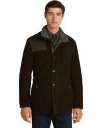 Jos. A. Bank - Reserve Collection Tailored Fit Quilted Suede Jacket - Lyst