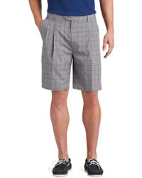 Jos. A. Bank | David Leadbetter Traditional Fit Pleated Front Windowpane Shorts | Lyst