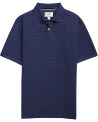 Jos. A. Bank - 1905 Collection Tailored Fit Pique Textured Stripe Short-sleeve Polo Shirt Clearance - Lyst