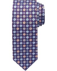 Jos. A. Bank - Signature Gold Collection Flowers & Squares Tie - Lyst
