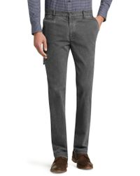 Jos. A. Bank - 1905 Collection Tailored Fit Flat Front Cotton Canvas Trousers - Lyst