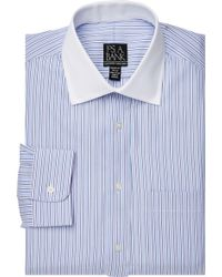 Jos. A. Bank - Xecutive Collection Tailored Fit Spread Collar Stripe Dress Shirt - Lyst
